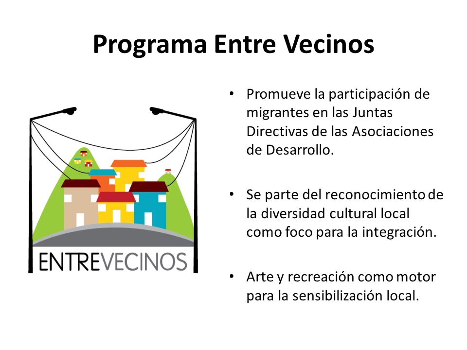 Programa Entre Vecinos