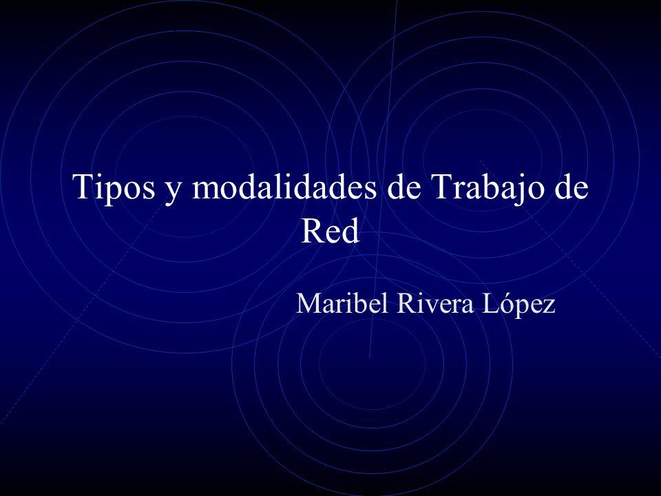 Tipos y modalidades de Trabajo de Red