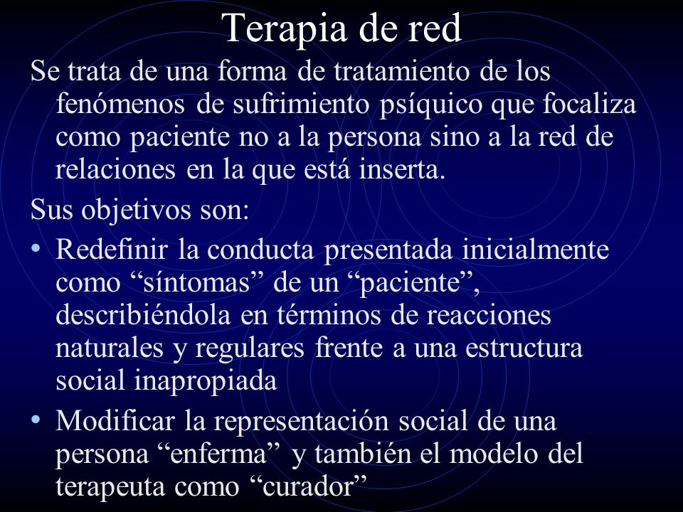 Terapia de red