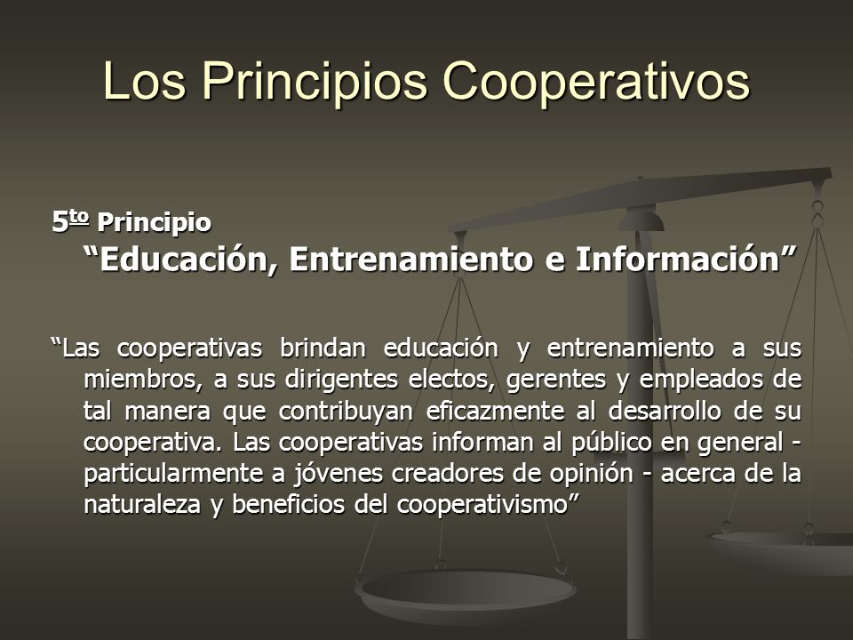 Los Principios Cooperativos