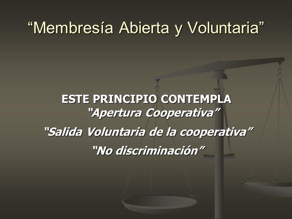 Membresía Abierta y Voluntaria