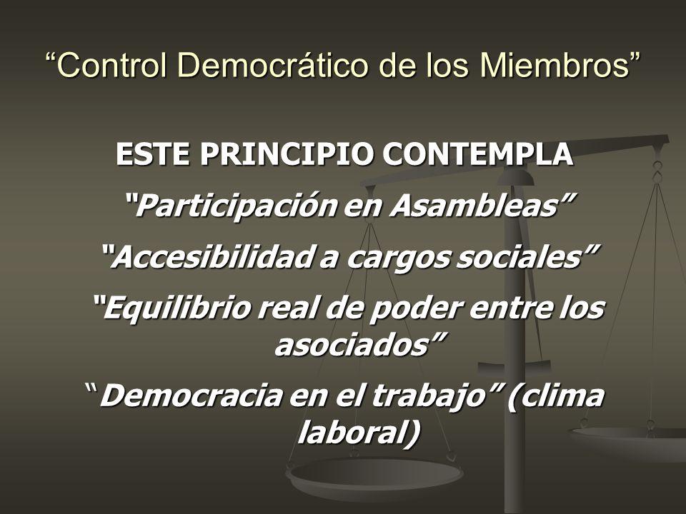 Control Democrático de los Miembros