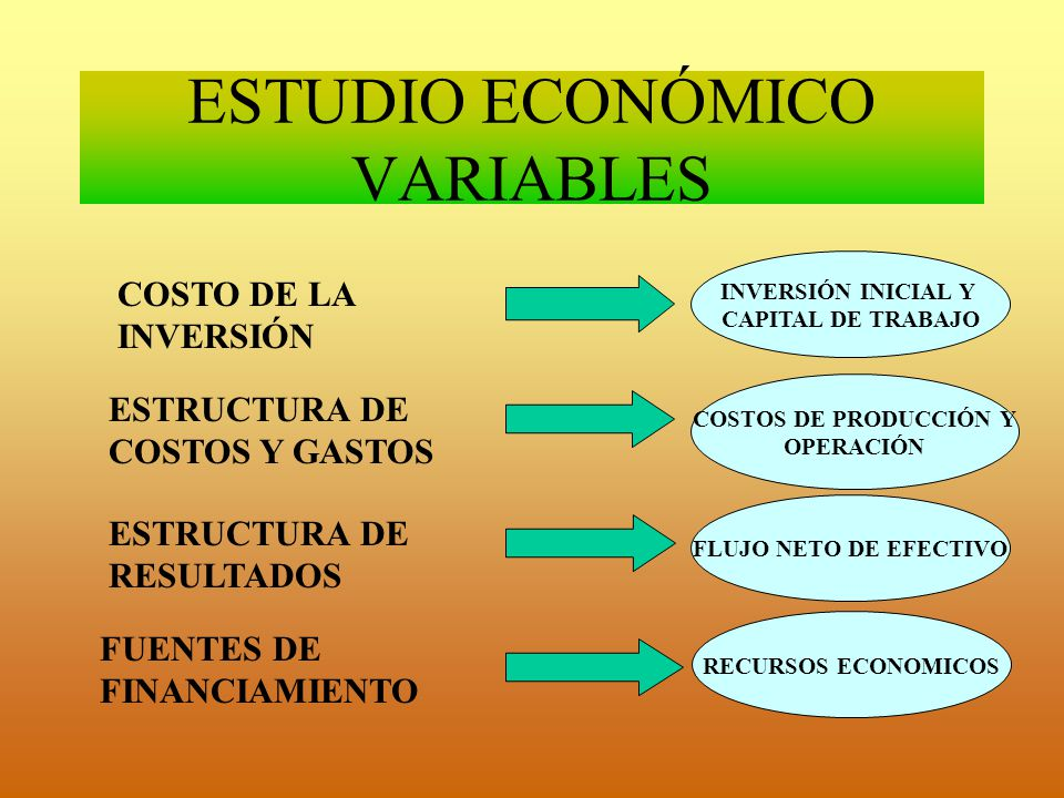 ESTUDIO ECONÓMICO VARIABLES
