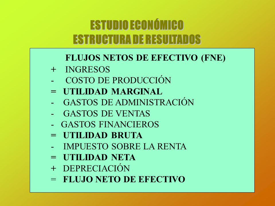 ESTRUCTURA DE RESULTADOS FLUJOS NETOS DE EFECTIVO (FNE)