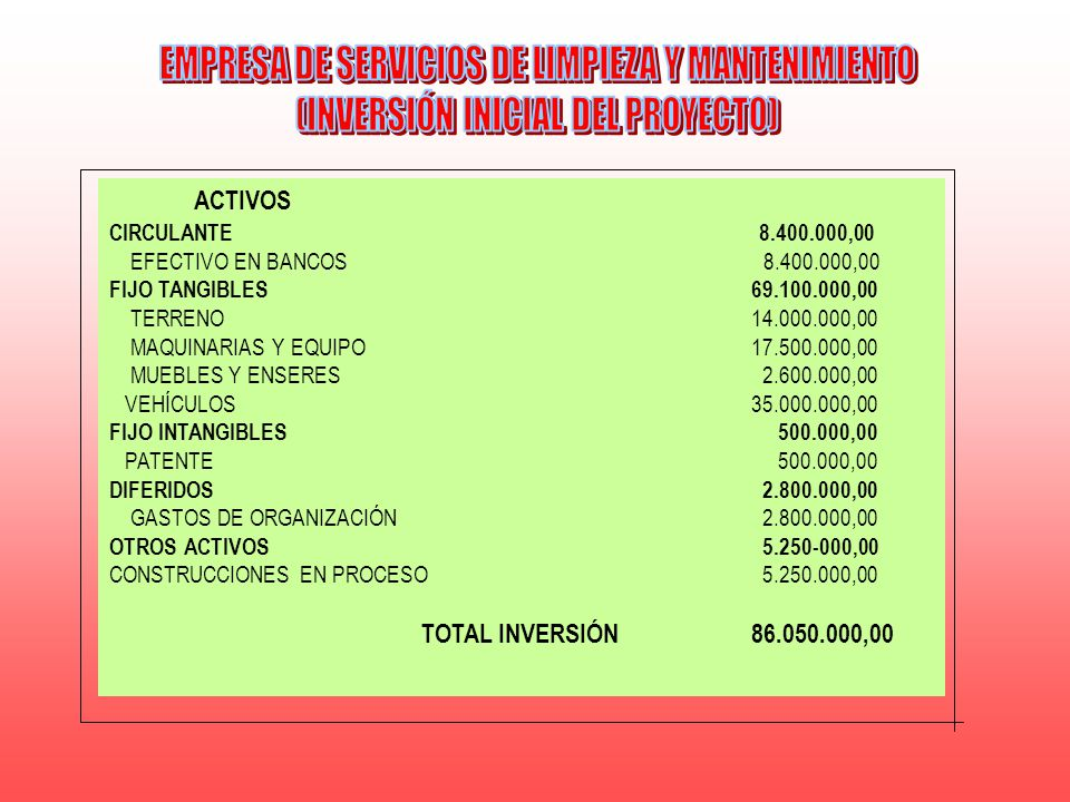 EMPRESA DE SERVICIOS DE LIMPIEZA Y MANTENIMIENTO