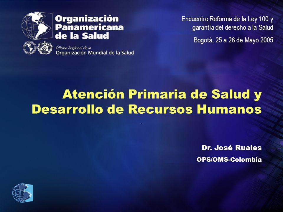 Atención Primaria de Salud y Desarrollo de Recursos Humanos