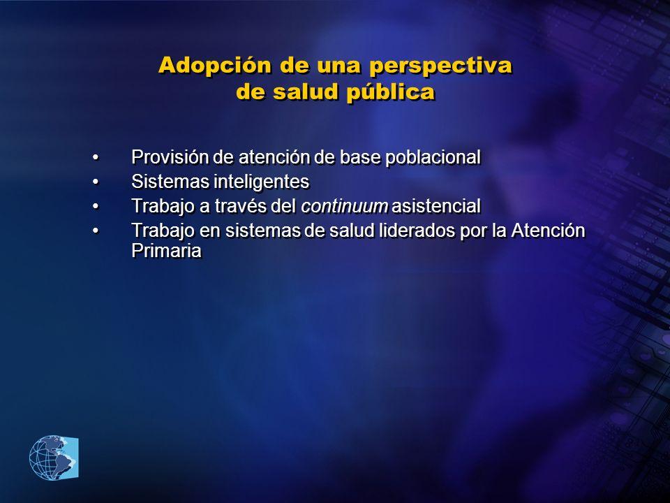 Adopción de una perspectiva de salud pública