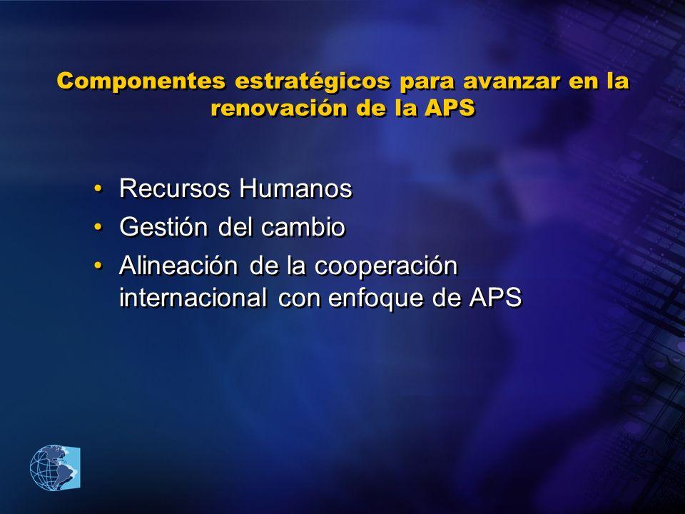 Componentes estratégicos para avanzar en la renovación de la APS