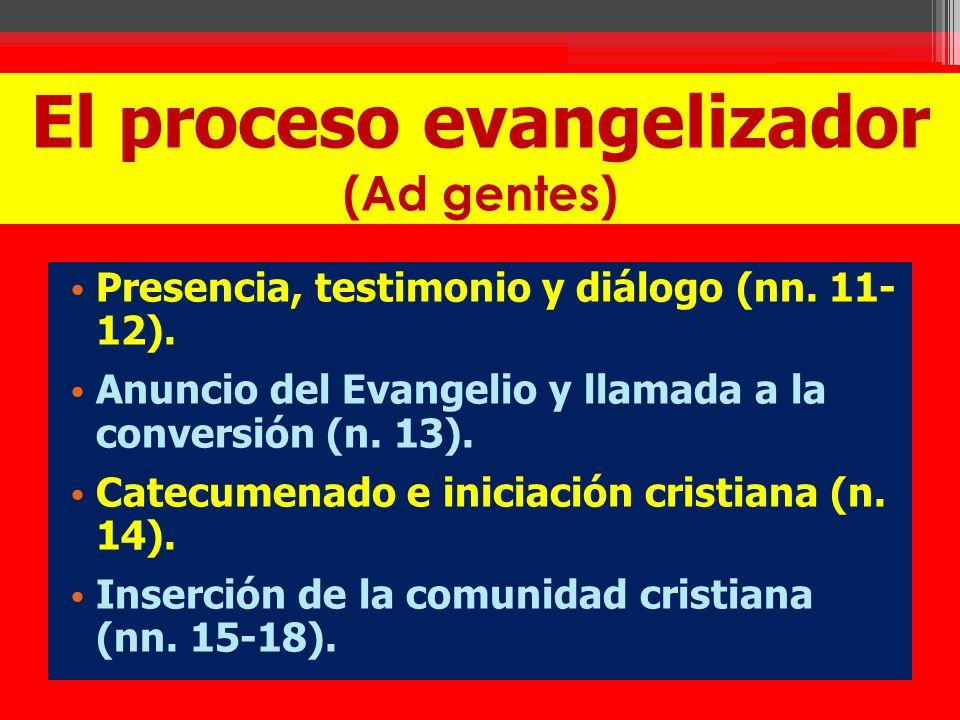 El proceso evangelizador (Ad gentes)