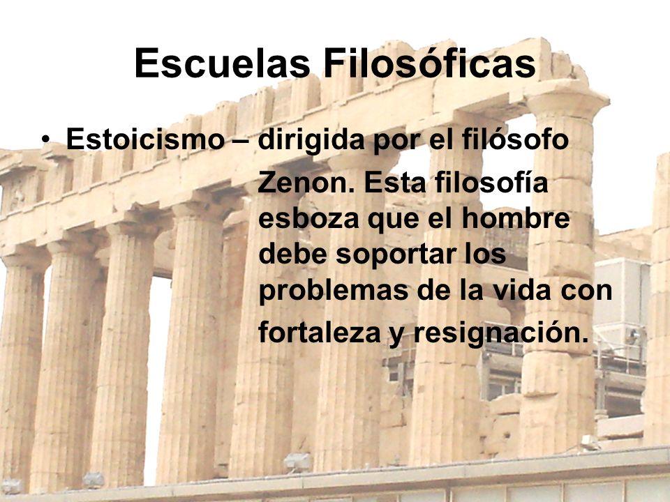 Escuelas Filosóficas Estoicismo – dirigida por el filósofo
