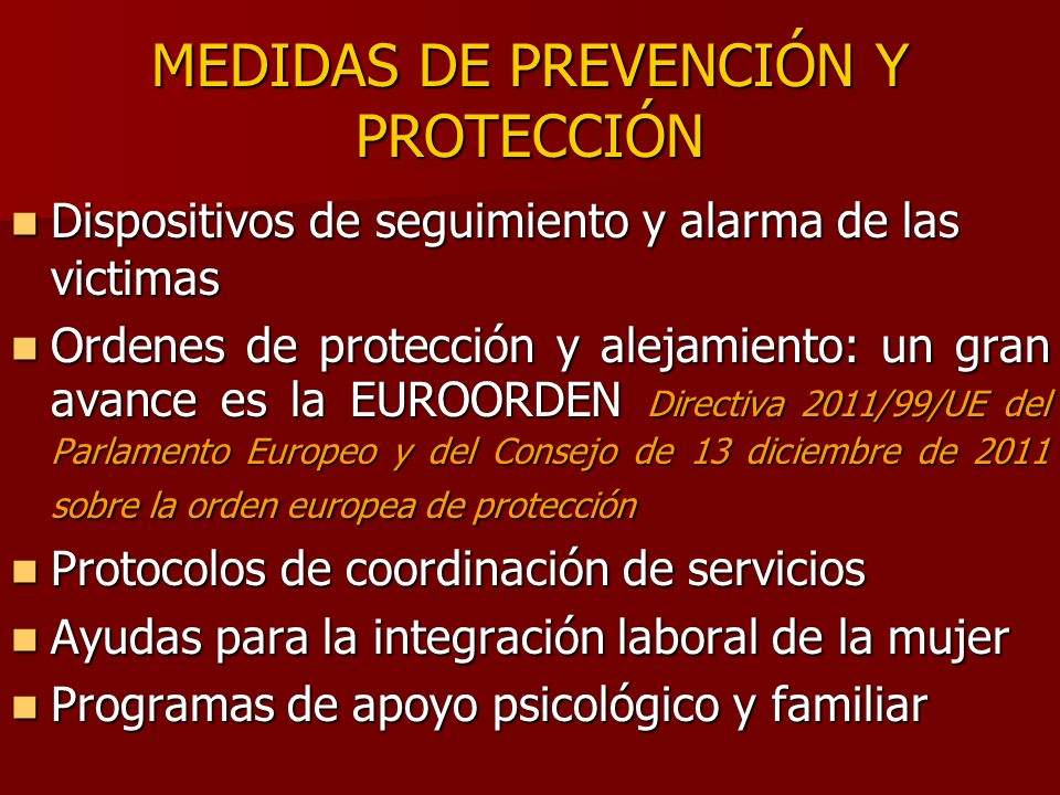 MEDIDAS DE PREVENCIÓN Y PROTECCIÓN