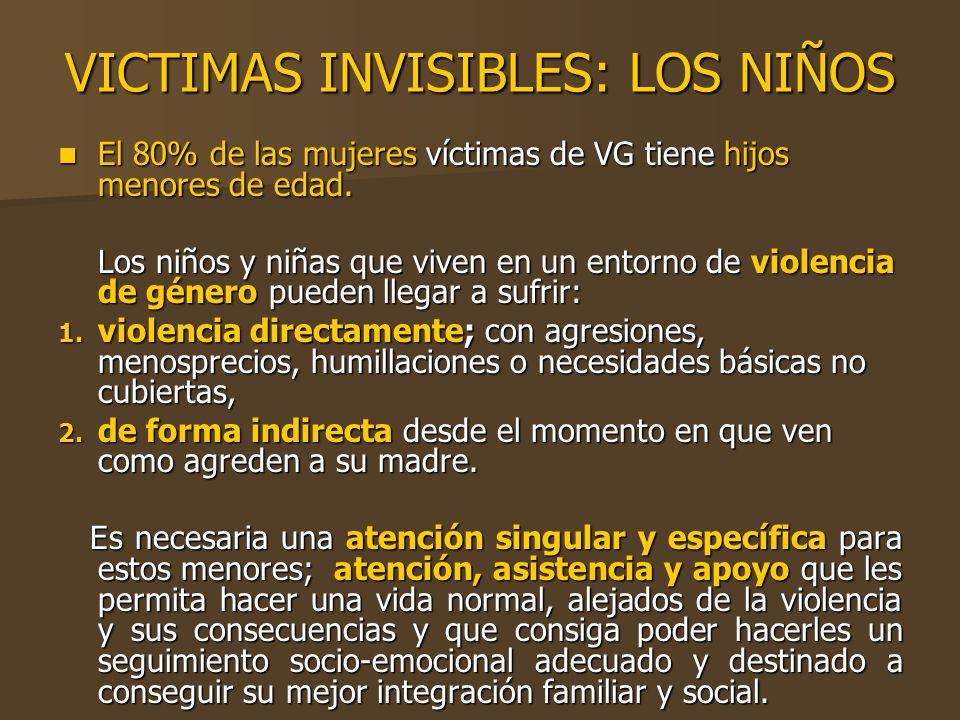 VICTIMAS INVISIBLES: LOS NIÑOS