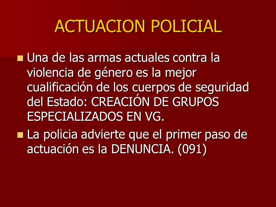 ACTUACION POLICIAL