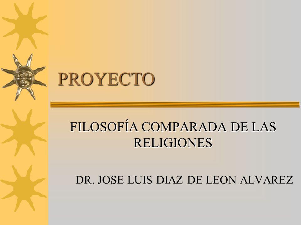 FILOSOFÍA COMPARADA DE LAS RELIGIONES