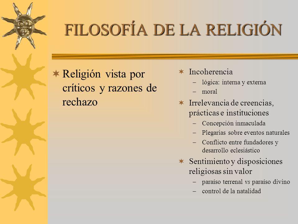 FILOSOFÍA DE LA RELIGIÓN