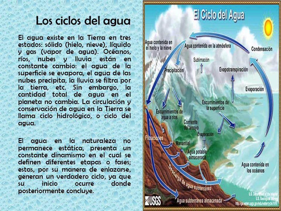 Los ciclos del agua