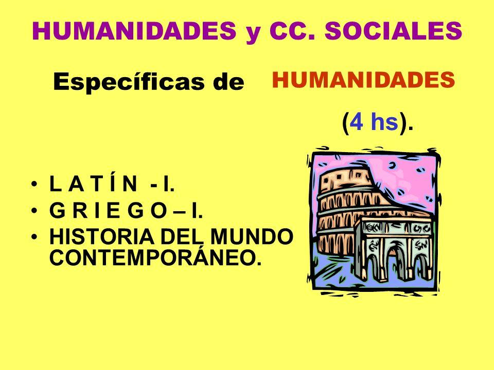 HUMANIDADES y CC. SOCIALES
