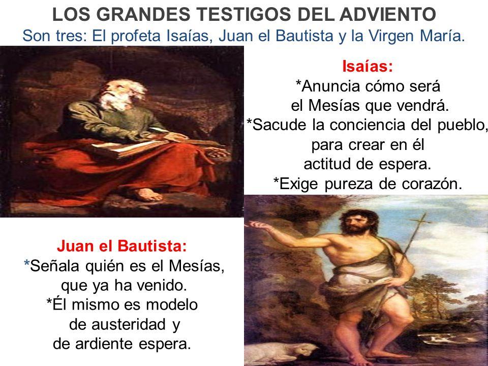 LOS GRANDES TESTIGOS DEL ADVIENTO