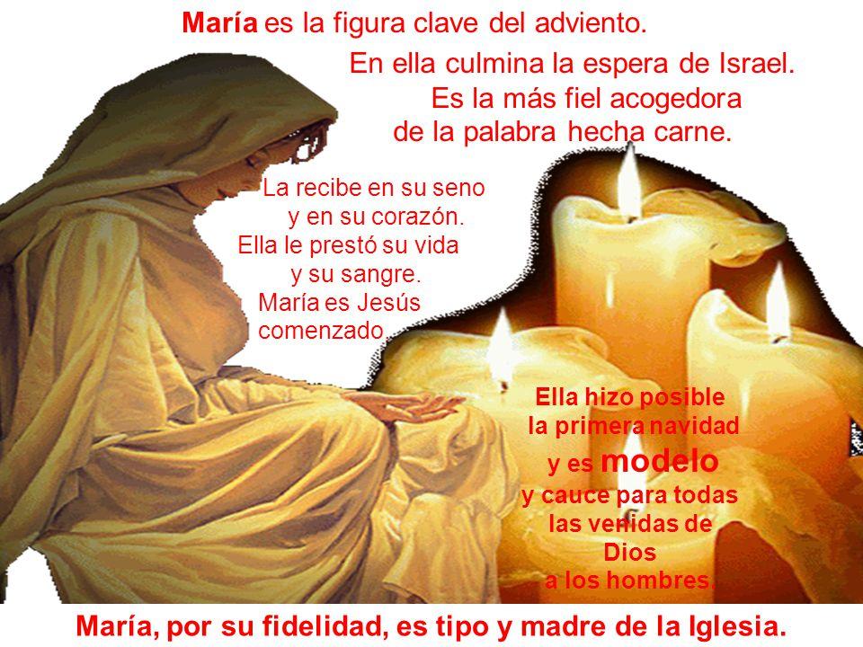 María, por su fidelidad, es tipo y madre de la Iglesia.