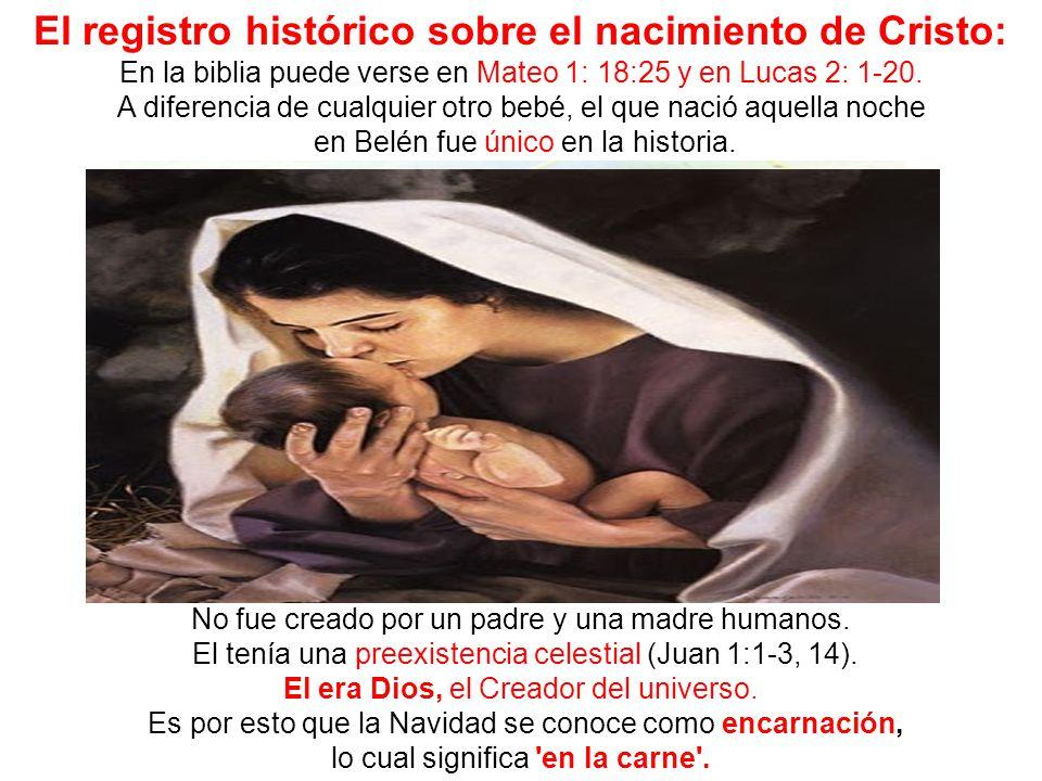 El registro histórico sobre el nacimiento de Cristo: