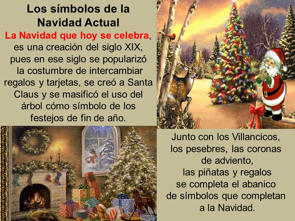 Los símbolos de la Navidad Actual