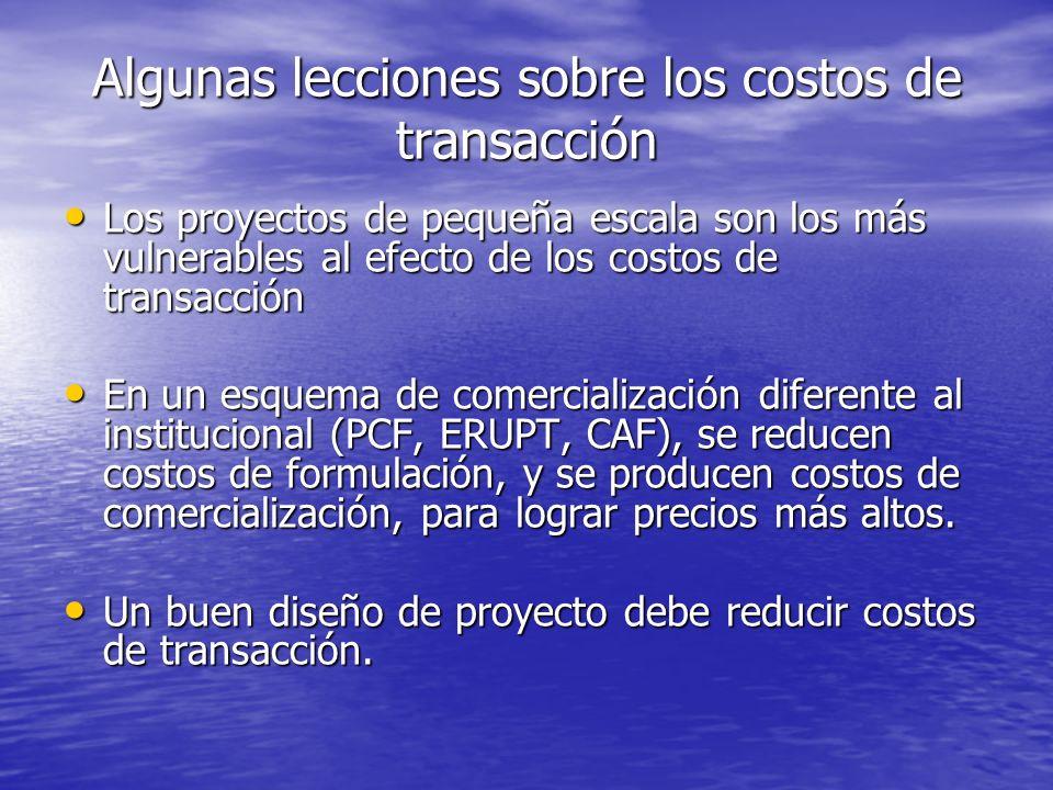 Algunas lecciones sobre los costos de transacción