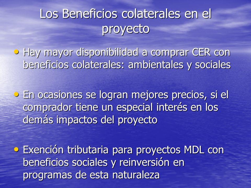 Los Beneficios colaterales en el proyecto