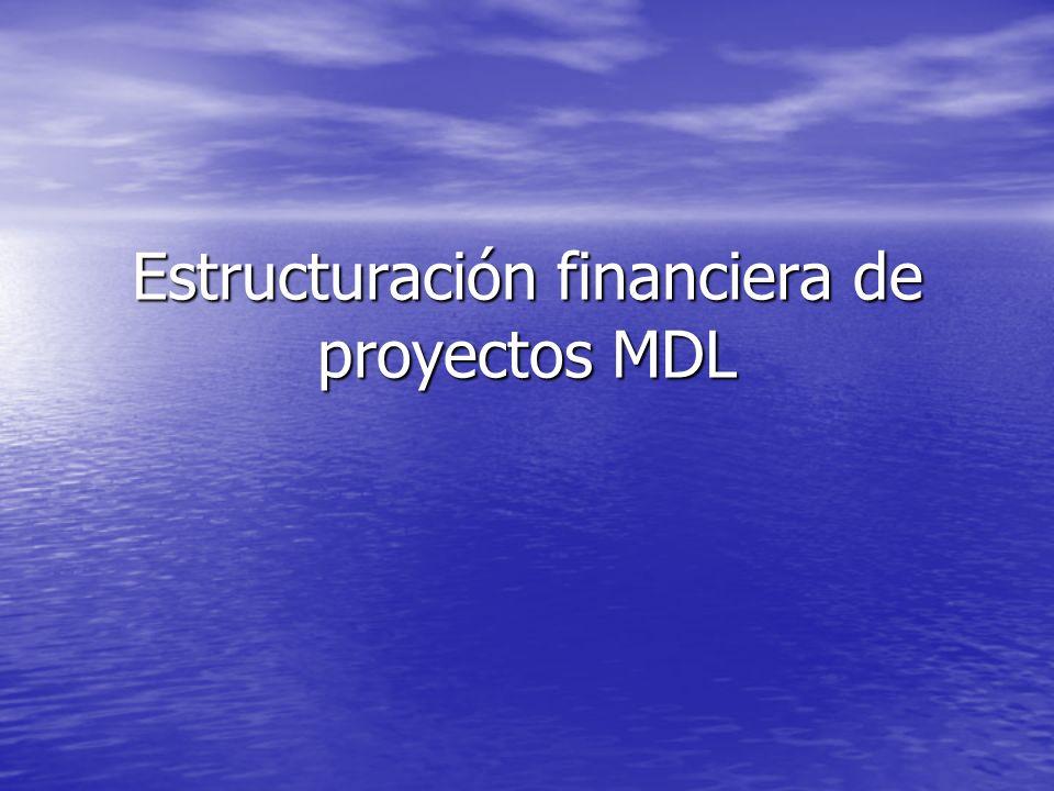 Estructuración financiera de proyectos MDL