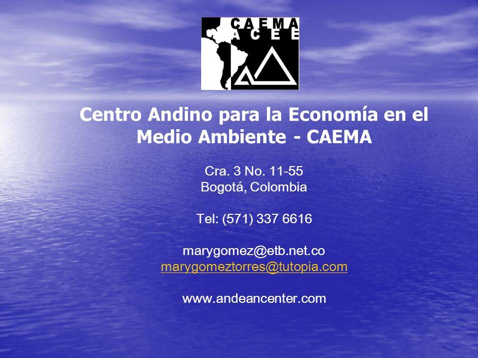 Centro Andino para la Economía en el Medio Ambiente - CAEMA