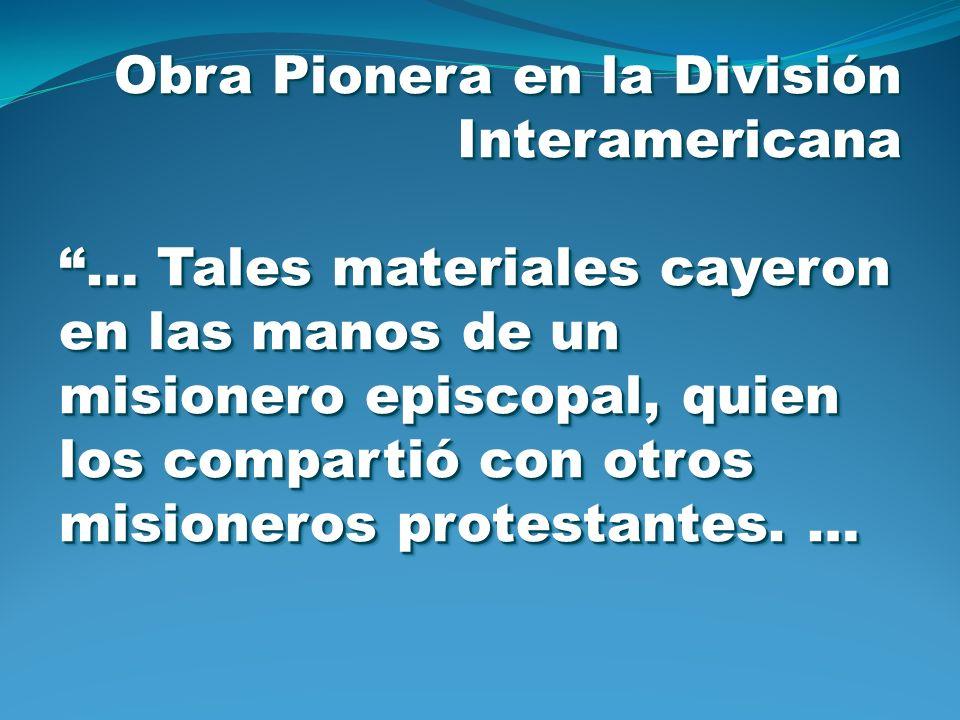 Obra Pionera en la División Interamericana