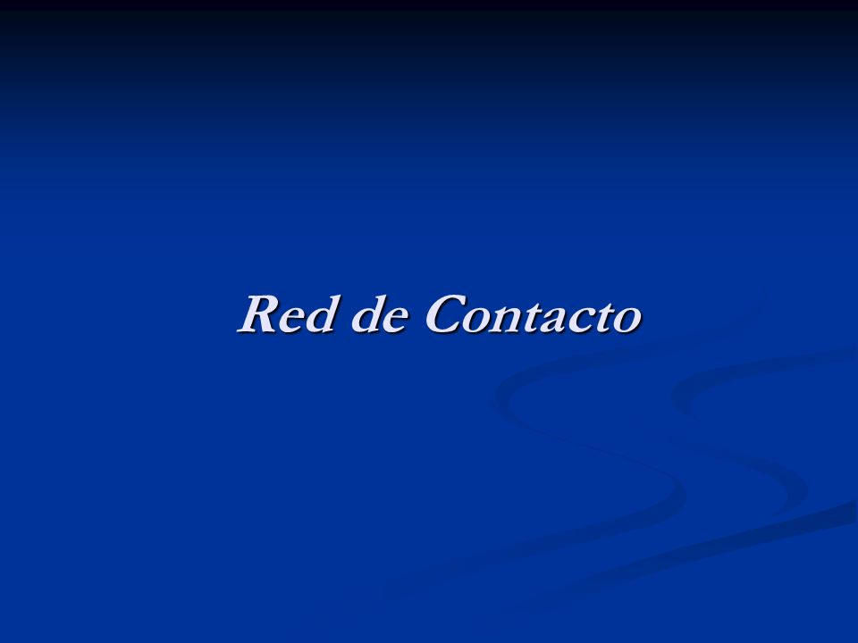 Red de Contacto