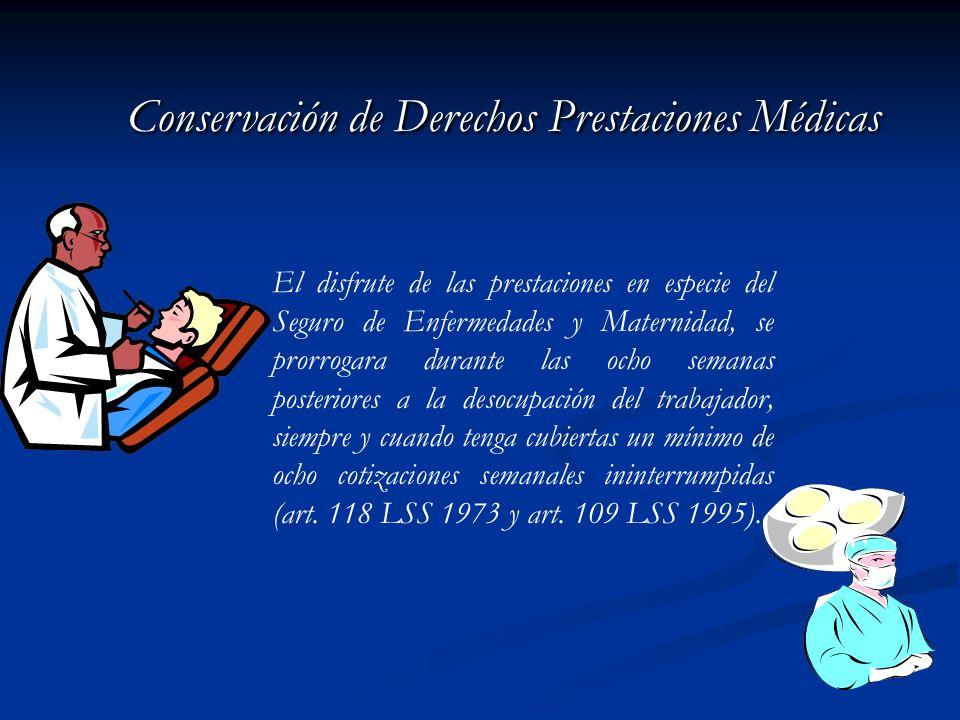 Conservación de Derechos Prestaciones Médicas