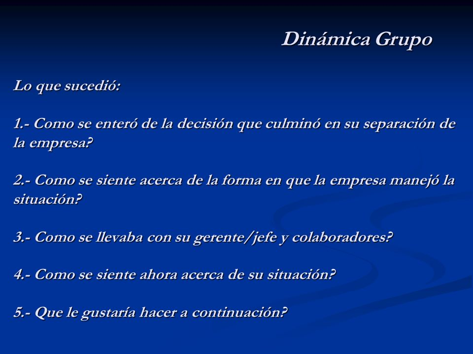 Dinámica Grupo