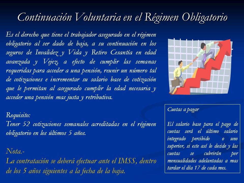 Continuación Voluntaria en el Régimen Obligatorio