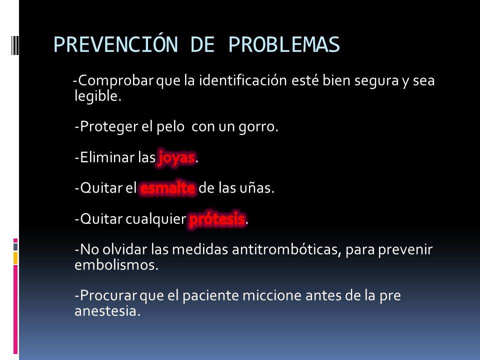 PREVENCIÓN DE PROBLEMAS