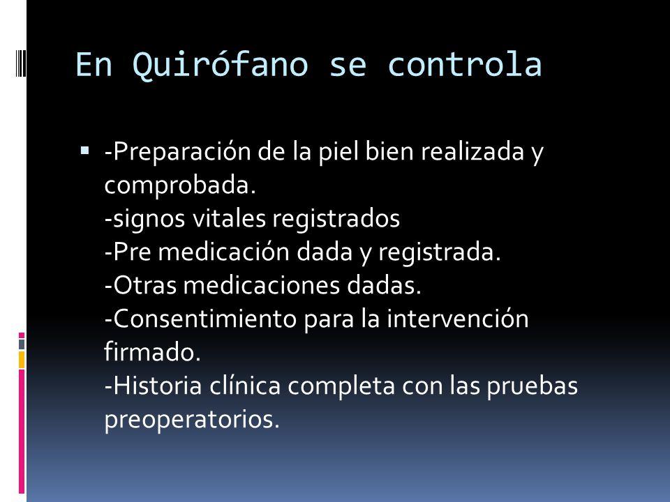 En Quirófano se controla