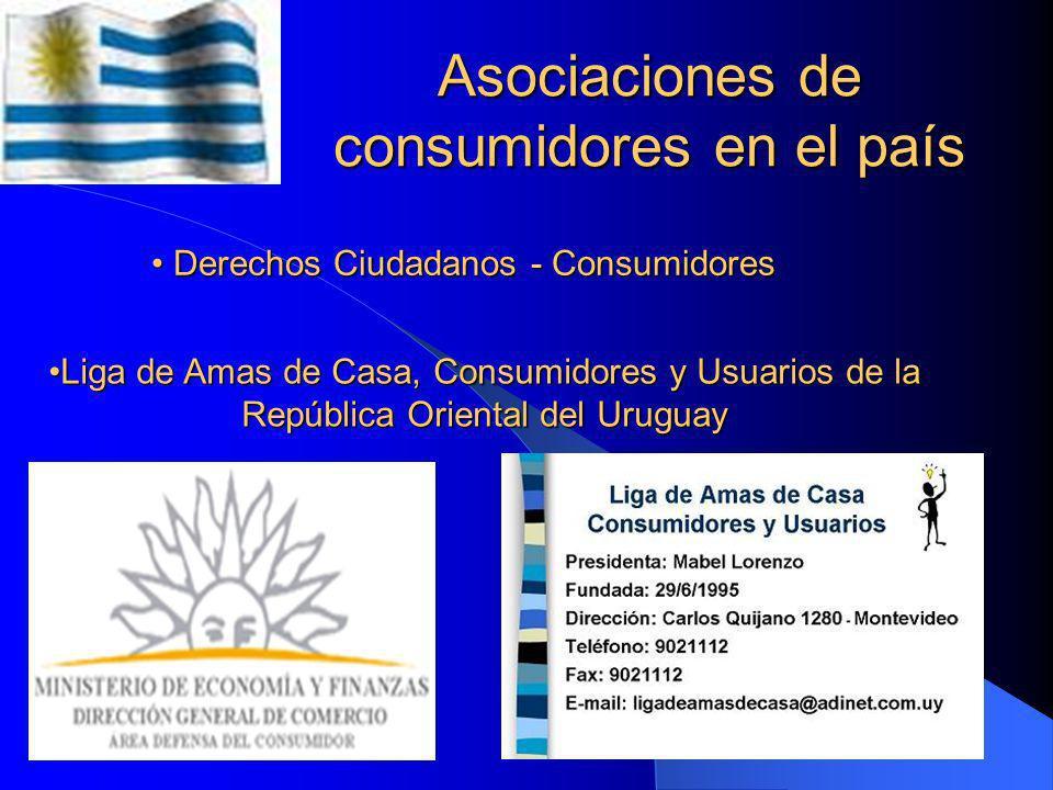 Asociaciones de consumidores en el país