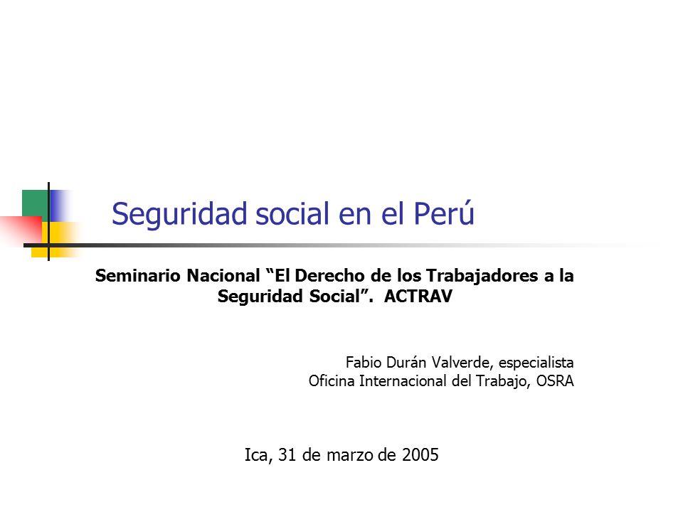 Seguridad social en el per ppt descargar - Oficina seguridad social granada ...
