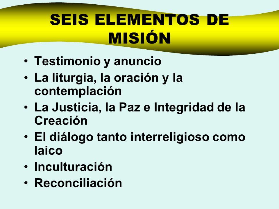 SEIS ELEMENTOS DE MISIÓN
