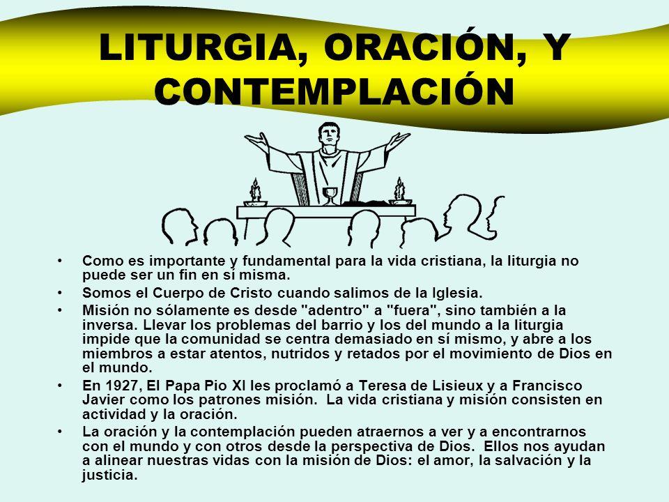 LITURGIA, ORACIÓN, Y CONTEMPLACIÓN