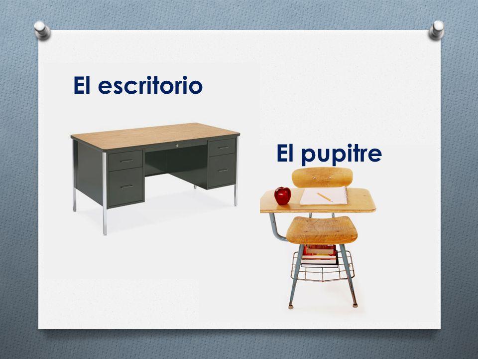 El escritorio El pupitre