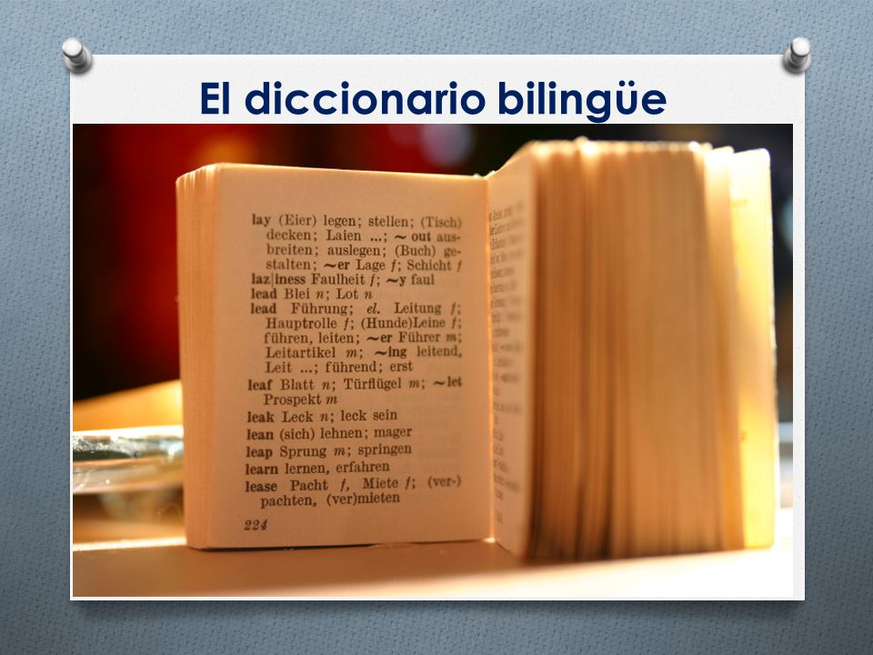 El diccionario bilingüe