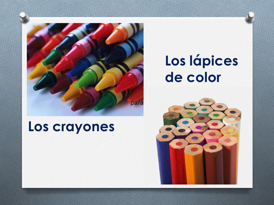 Los lápices de color para Los crayones
