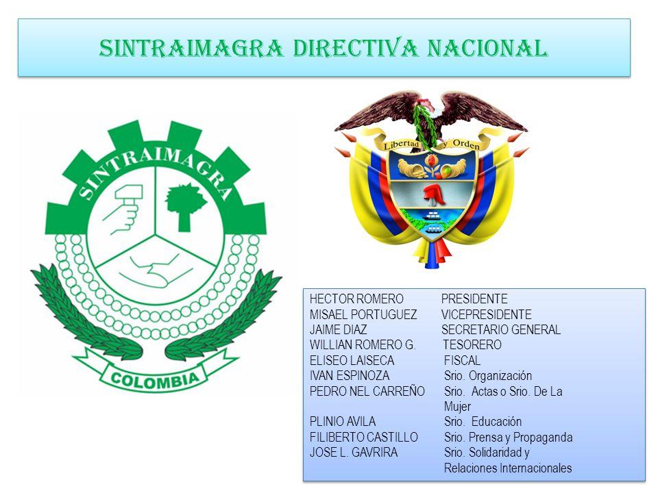 SINTRAIMAGRA DIRECTIVA NACIONAL
