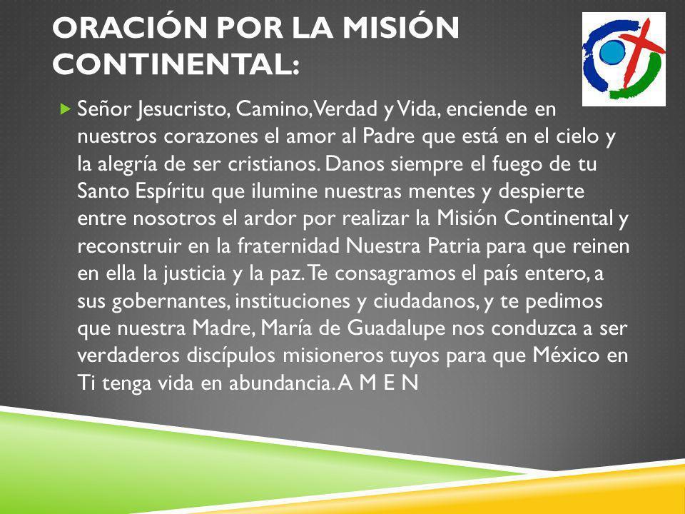 Oración por la Misión Continental: