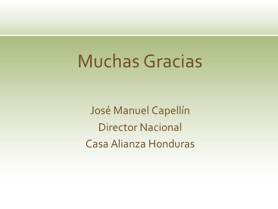 Muchas Gracias José Manuel Capellín Director Nacional