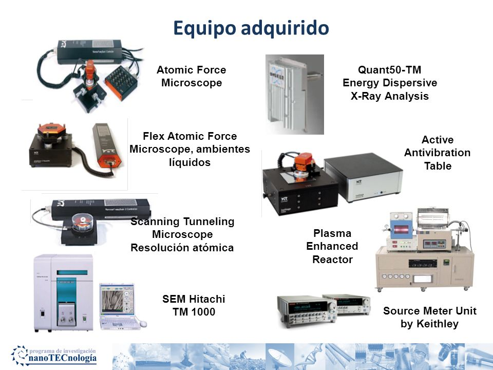 Equipo adquirido Atomic Force Microscope Quant50-TM Energy Dispersive