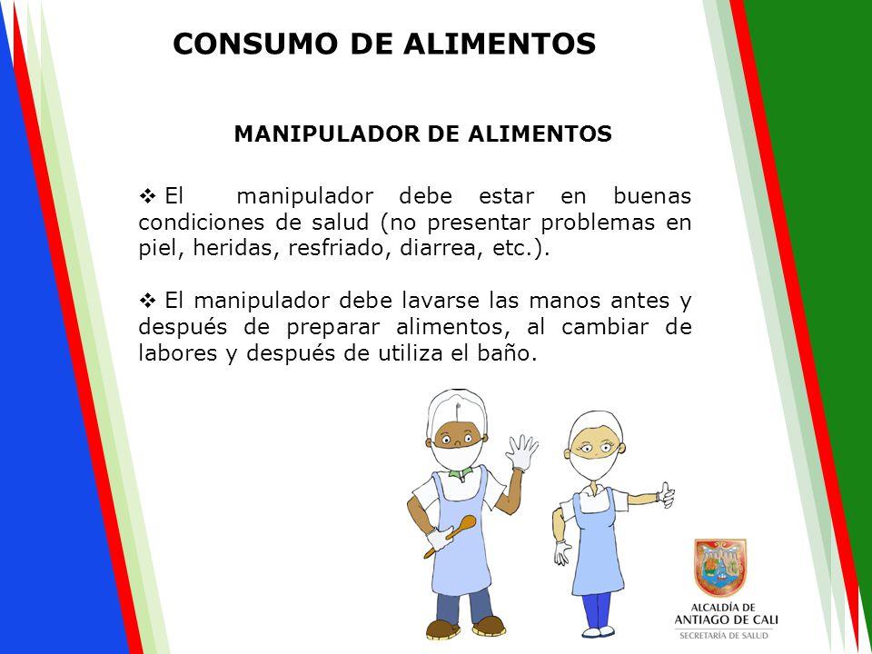 CONSUMO DE ALIMENTOS MANIPULADOR DE ALIMENTOS