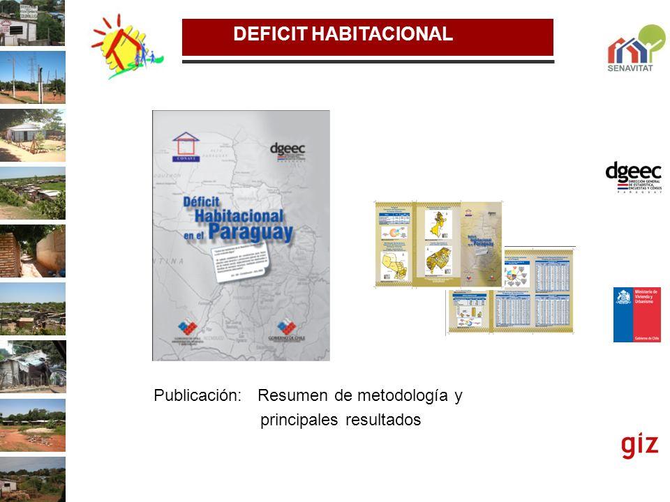DEFICIT HABITACIONAL Publicación: Resumen de metodología y