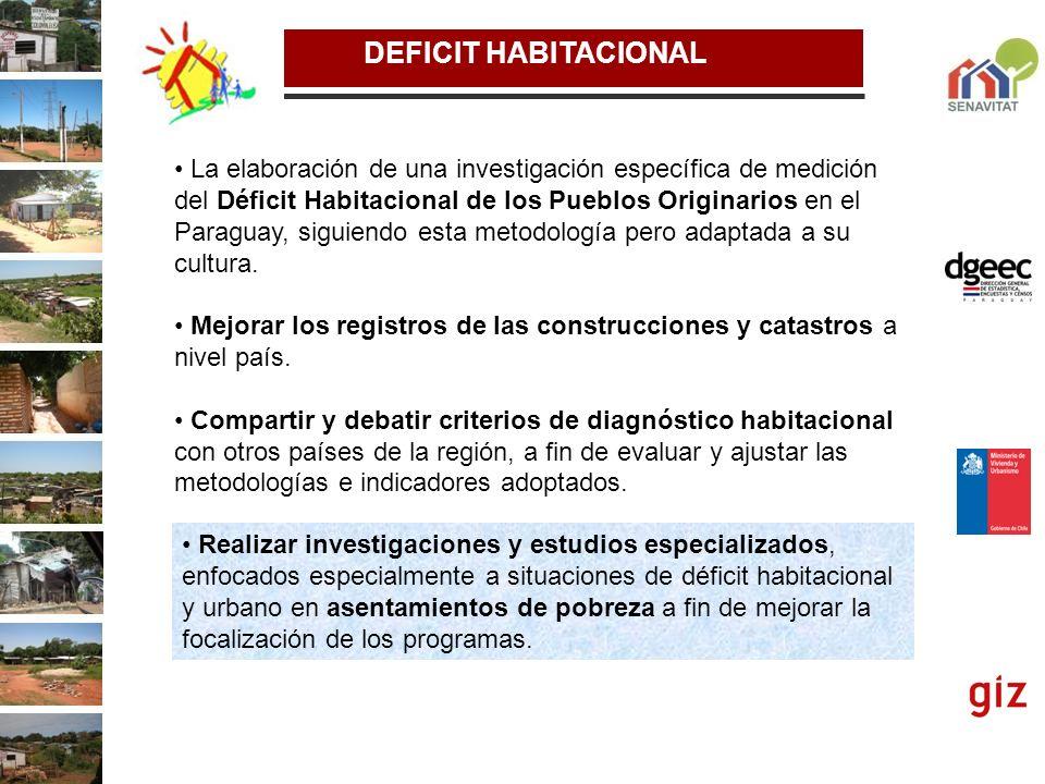 DEFICIT HABITACIONAL